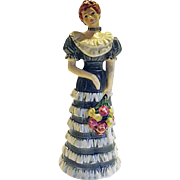 LOVELY LADY 1984 Goebel Unity of Diversity Series #1 Blue Dress Flowers 19 004-21