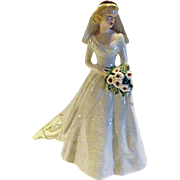 "BEAUTIFUL BRIDE Goebel W Germany ""Forever And Always 1949"" Porcelain Figurine Wedding"