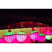 Vintage BUBBLING BUBBLE LIGHTS 7 Light Set in Box Christmas Tree