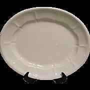 "ANTIQUE 1800s Elsmore & Forster Ceres No Wheat Ironstone Platter White16"""