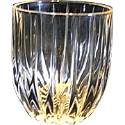 "Mikasa PARK LANE 4"" Executive Double Old Fashioned Crystal Glass Discountinued"