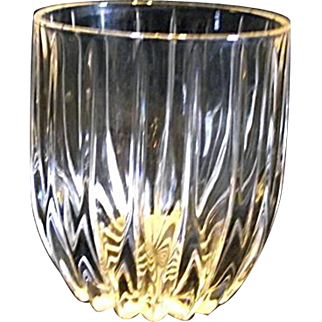 """Mikasa PARK LANE 4"""" Executive Double Old Fashioned Crystal Glass Discountinued"""
