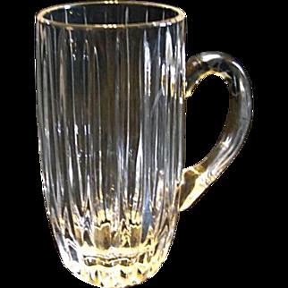 "Mikasa PARK LANE 7"" Tall Beer Stein Mug Crystal Glass Discontinued"