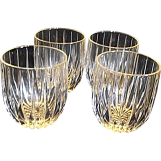 """Mikasa PARK LANE 4"""" Executive Double Old Fashioned UNUSED  SET OF 4 IN BOX Discontinued"""