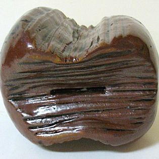 Late 1900s Heavy Pottery Mammoth Tooth Bank by John Owens
