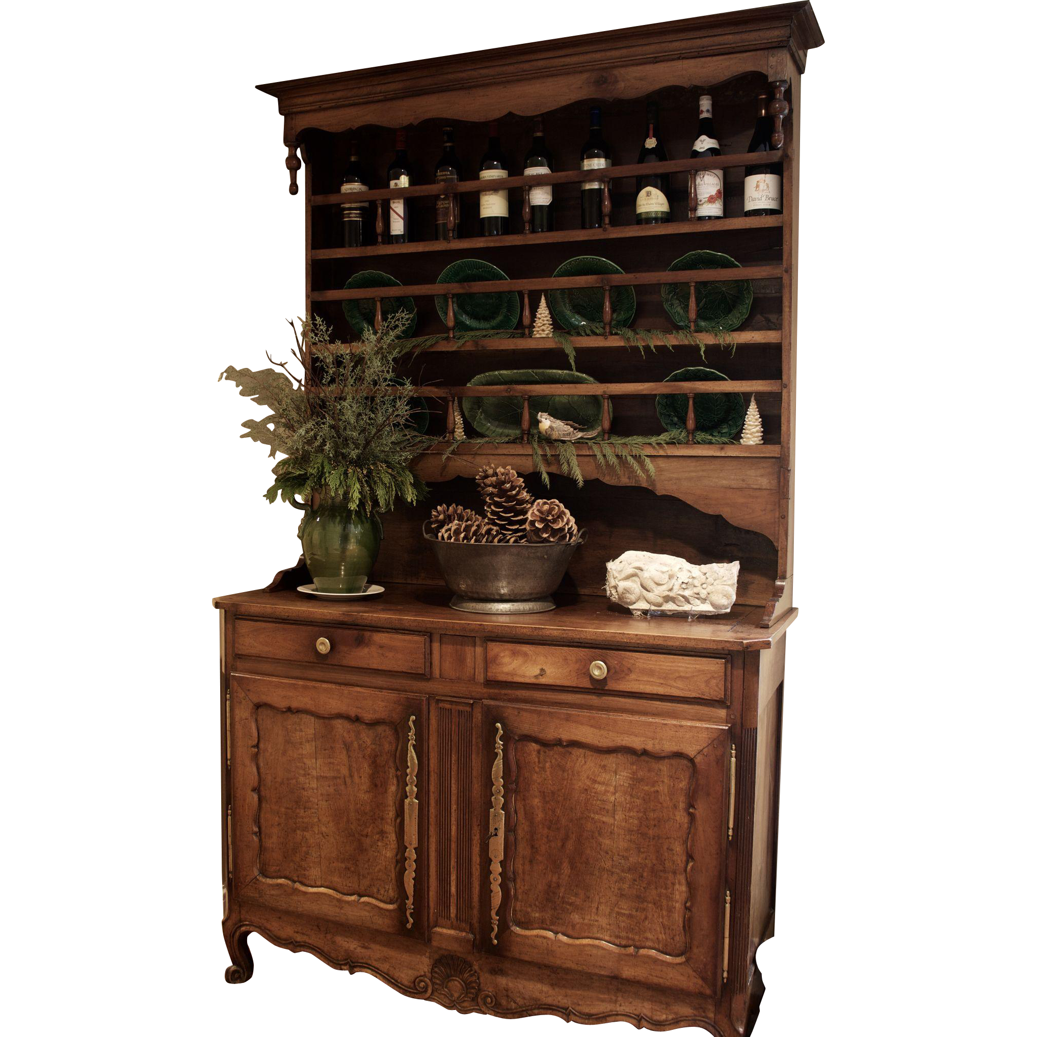 antique french cherry vaisselier from theuncommonmarket on ruby lane. Black Bedroom Furniture Sets. Home Design Ideas