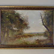 Beautiful Pastoral Landscape Oil Painting