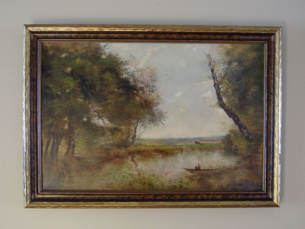 Beautiful Pastoral Landscape Oil Painting from ...