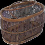 Antique Bentwood Ladies' Basket, Birdcage Form