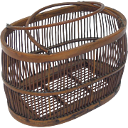 Antique Bentwood Ladies' Basket, Birdcage Form