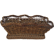 Very Old Rectangular French Basket