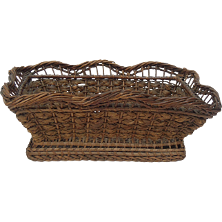Very Old Rectangular French Basket