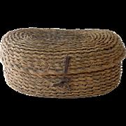 Vintage French Straw Egg Basket