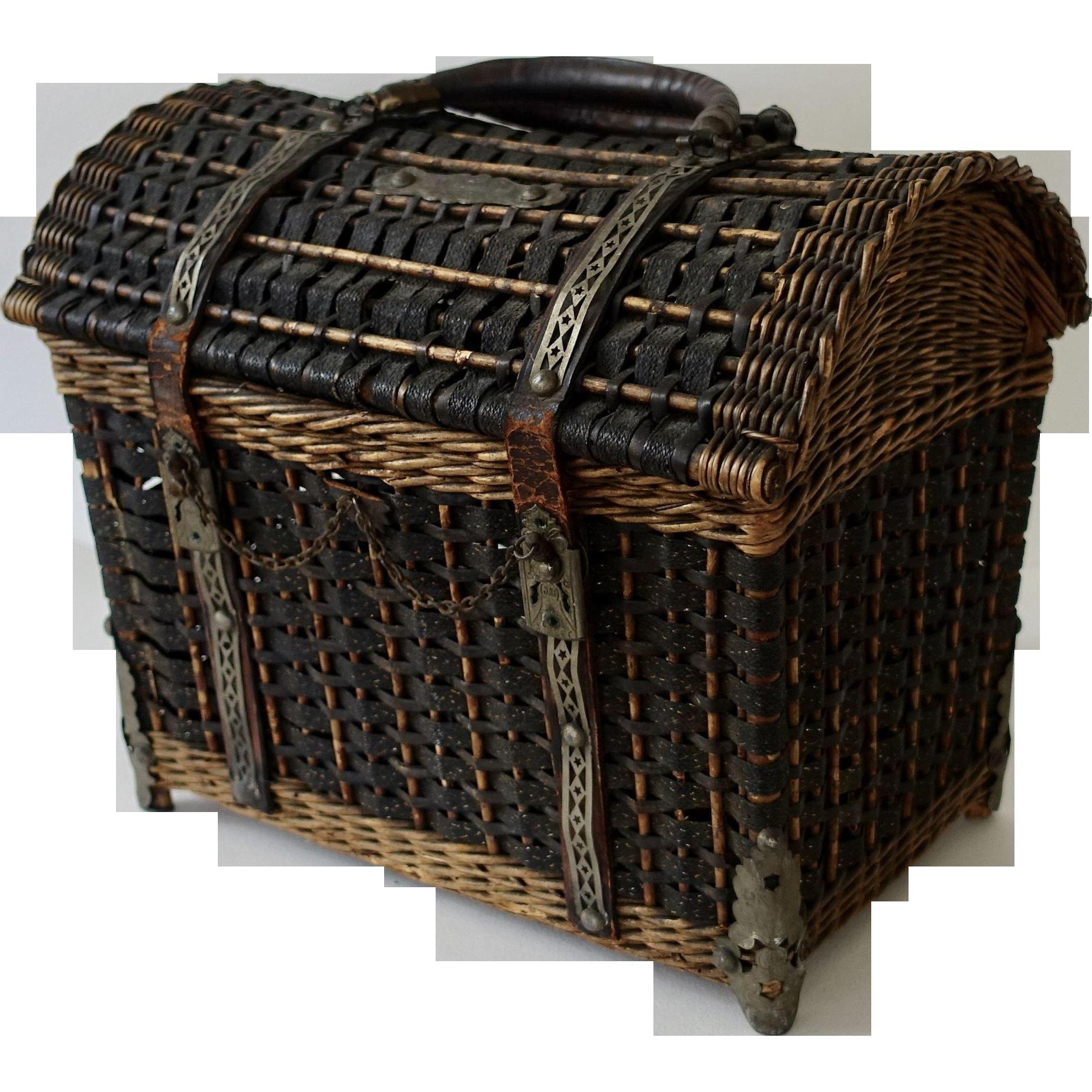 Antique French Ladies Basket Purse, Handbag