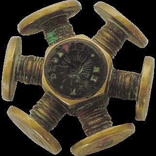 Rare Antique Multi Letter Seal Wheel