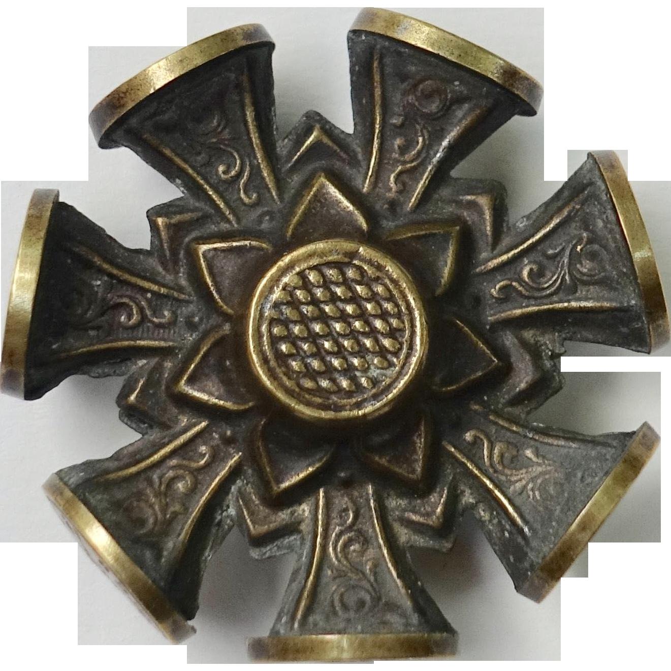 Antique Victorian Intaglio Seal Multi Wheel with 8 Wax Seals