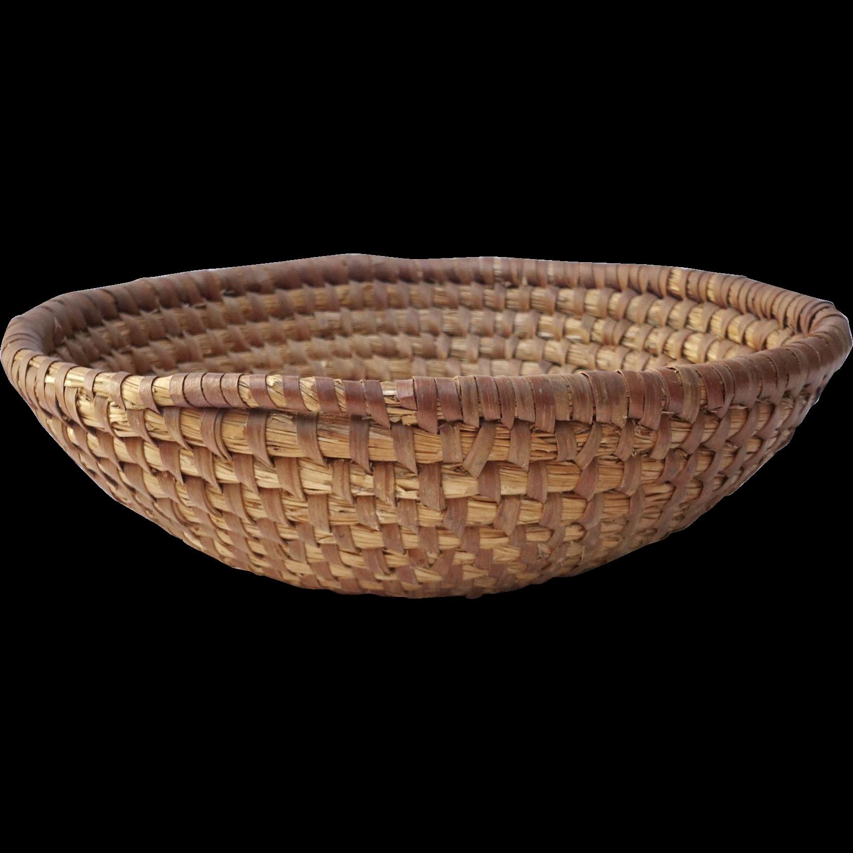 Antique Coil Basket