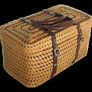 Antique French Basket Purse, Handbag