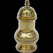 English Brass Antique Cast & Turned Pepper Pot, Ca. 1780