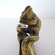 Vintage English Brass Squirrel Nutcracker