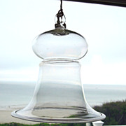 Antique Hand Blown Glass Smoke Bell