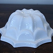 English Cream Earthenware Jelly Mould, Mold