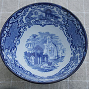 "George Jones Blue & White English Transferware ""Abbey"" Bowl"