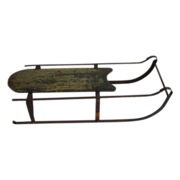 Antique Child's Sled with Iron Runners