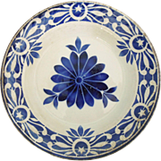 Antique French Blue and White Bowl, St. Amandinoise
