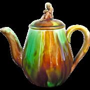 Majolica Teapot