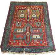 Vintage Oriental Rug, Vegetable Dyes