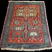 Vintage Oriental Rug, Vegetable Dyes