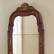 Elegant Antique English Chinoiserie Looking Glass, Mirror