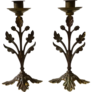 Pair of Antique French Candlesticks
