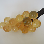 Vintage Large Bunch of Champagne Colored Lucite Grapes
