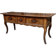 Antique French Cherry Sofa Table, Console
