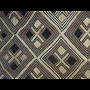 Handwoven African Kuba Cloth