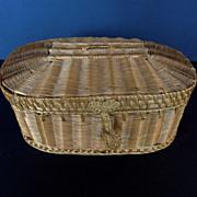 Wonderful Antique French Sewing Basket, Jewelry Box