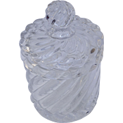 Baccarat Lead Crystal Jar with Lid