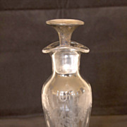19 Century Glass Oil & Vinegar Cruet with Silver Stopper