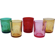 Set of 5 Versace & Rosenthal candle holders, glasses, shot glasses