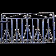 Iron Garden Gate with Original Blue Paint