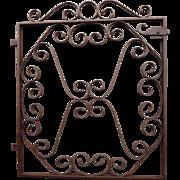 Antique Iron Garden Gate