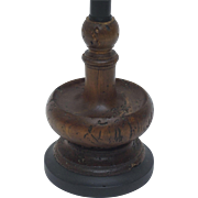 Antique French Candlestick Lamp