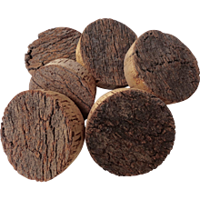 Set of Six Vintage Large Cork Rounds