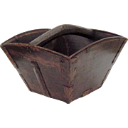 Antique Chinese Rice Bucket