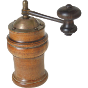 Rare Antique Boxwood French Pepper Grinder or Spice Grinder