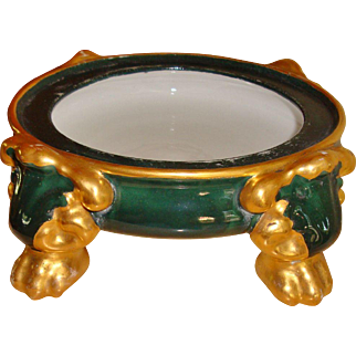 Hand Painted Porcelain Pedestal Base Plinth for Punch Bowl Jardiniere Base