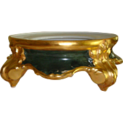Large Antique Limoges France Hand Painted Porcelain Plinth - Base for Punch Bowl Jardiniere or Vase