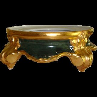 Large Antique Limoges France Hand Painted Porcelain Plinth - Base for Punch Bowl Jardiniere or Vase